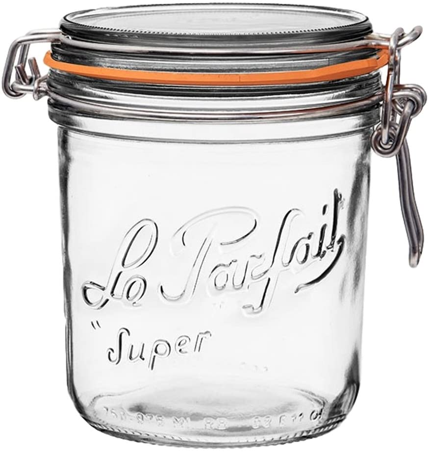 Le Parfait  Terrine Jar 200ml perfect for storage Orange Rubber ring included