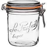 Le Parfait 1 Super Terrine - Wide Mouth French Glass Preserving Jars - Zero Waste Packaging (1, 750ml - 24oz)