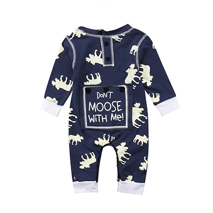 ae8ee530e Toddler Infant Baby Girl Boy Long Sleeve Deer Romper Jumpsuit Pajamas XMAS  Outfit: Amazon.ca: Clothing & Accessories