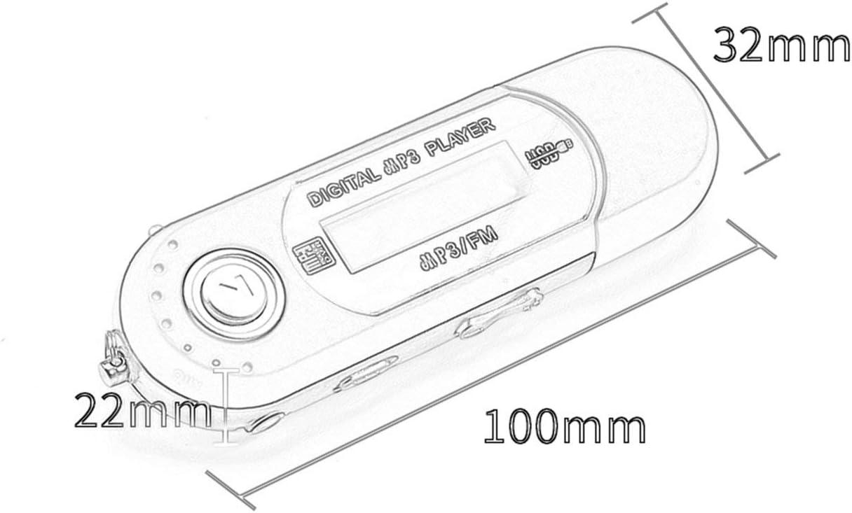 Ballylelly Digitaler Mini-USB-MP3-Musik-Player FM-Radiofunktion ...