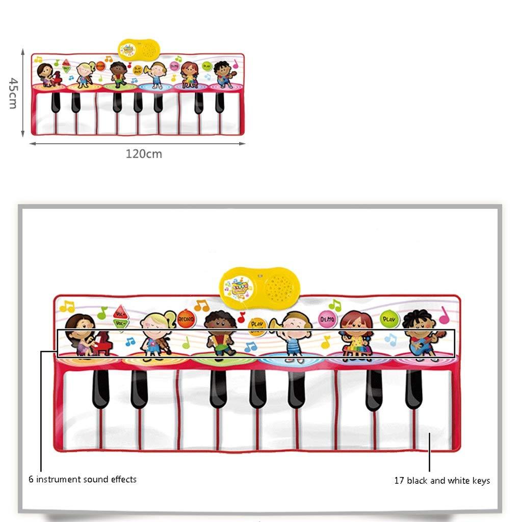 HXGL-Keyboard Children's Keyboard Playmat Piano Play Mat Kids Electronic Music Playmat Colorful Dance Mat-17 Keys (Color : Red) by HXGL-Keyboard (Image #5)