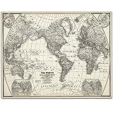 1922 World Map Art Print- 11x14 Unframed Art Print - Great Home Decor