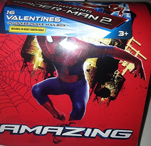 The Amazing Spider-man 2: 16 Valentines Plus Keepsake Mail Box. Includes 48 Heart-Shaped Seals. 8 Amazing Designs (Seal Keepsake)