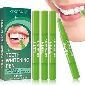 Blanqueamiento de dientes,Blanqueador Dental,Blanqueamiento Dental Gel,Blanqueador Dental,blanqueamiento de los dientes y gel,Reducir Manchas Dientes, 4 PCS: Amazon.es: Salud y cuidado personal
