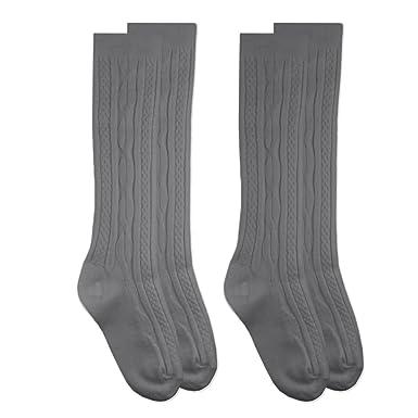 c4532ee34e0 Jefferies Socks School Uniform Cable Knit Knee High Socks 2 Pair Pack (L -  USA