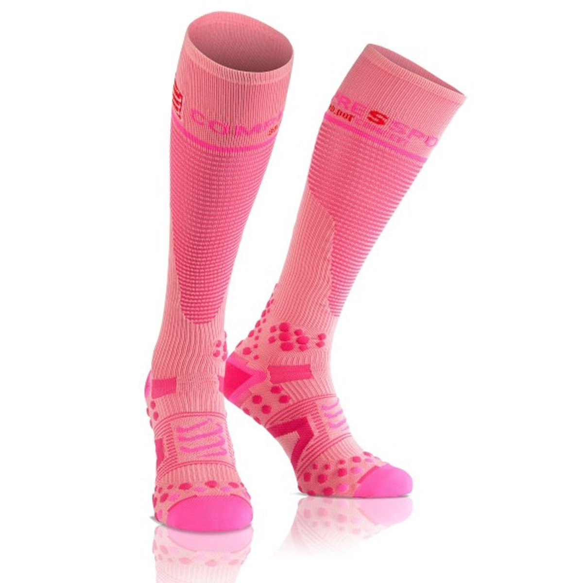 Compressport Kompressions-socken Full Socks V2.1 Calcetines, Unisex, Rosa, 1M