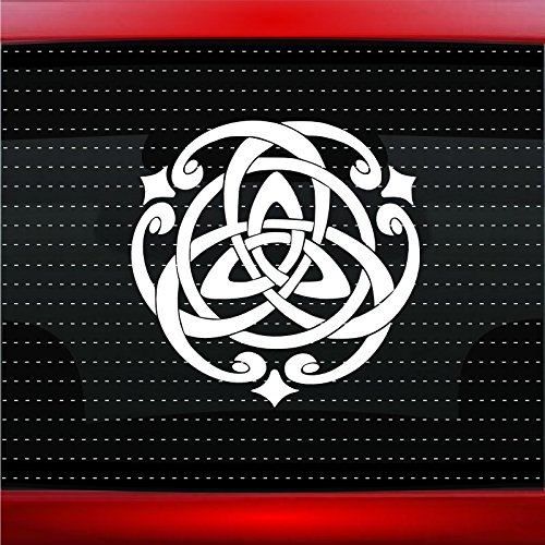 (Trinity Celtic Knot #1 Christian Car Sticker Truck Window Vinyl Decal COLOR:)