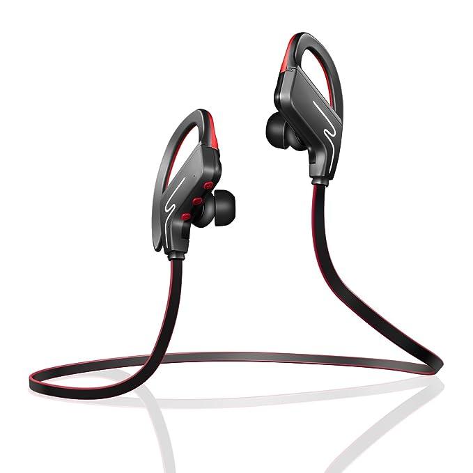 5a423d981d1 Bluetooth Headphones,Ailis SP-6 Wireless Earphones,Snug Fit for Sports with  Built