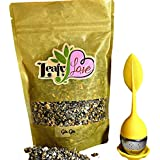 Leafy Love Gin Gin Tea Mix with a FREE Yellow Tea Infuser (LIMITED TIME ONLY) - Calming, Inflammation, Bloating, Reduce Anxiety and Stress, Better Sleep- Caffeine Free - 3 Oz