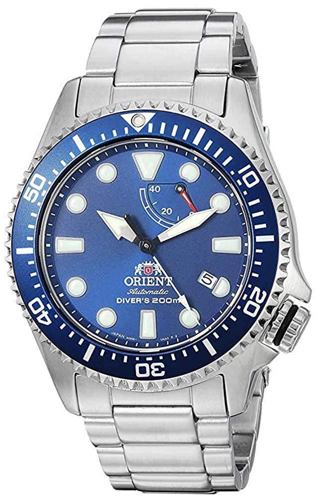 Orient Men s Neptune Japanese Automatic Hand Winding Stainless Steel Bracelet Diver Watch