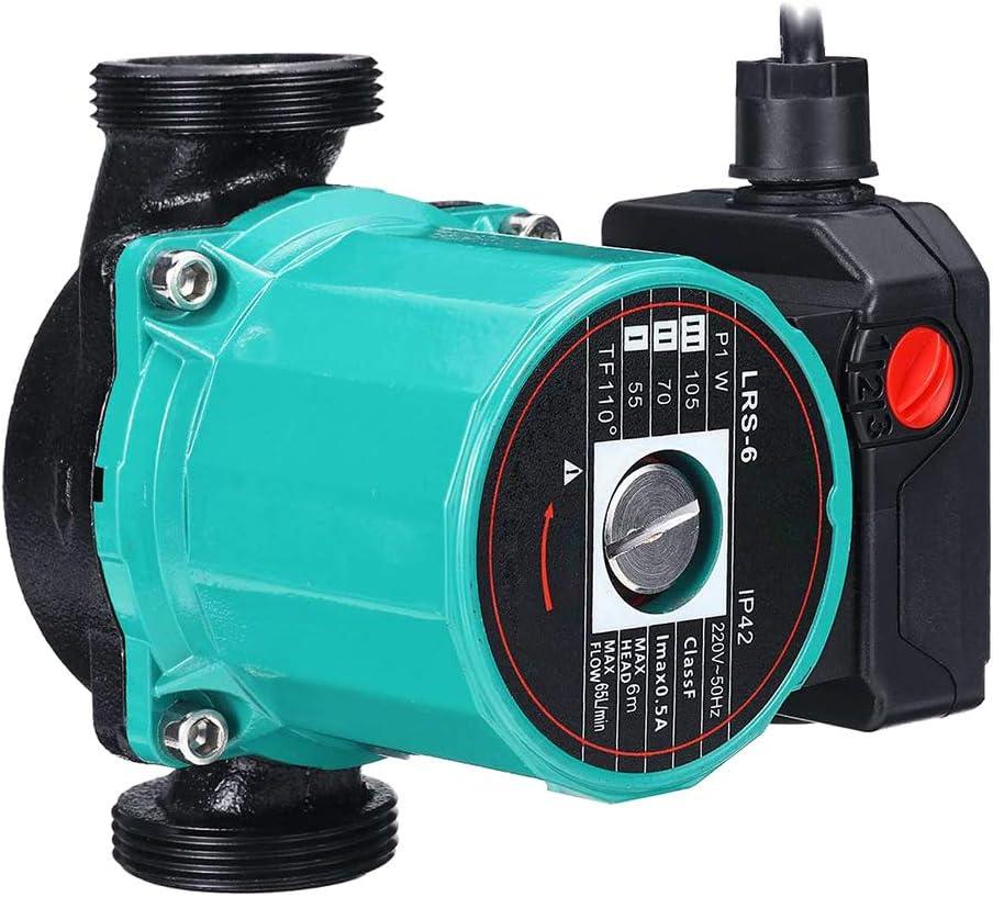 Uyuke Bomba de circulación de Agua Caliente de 100W Bomba de circulación de calefacción de Piso de Caldera para Oficina en casa
