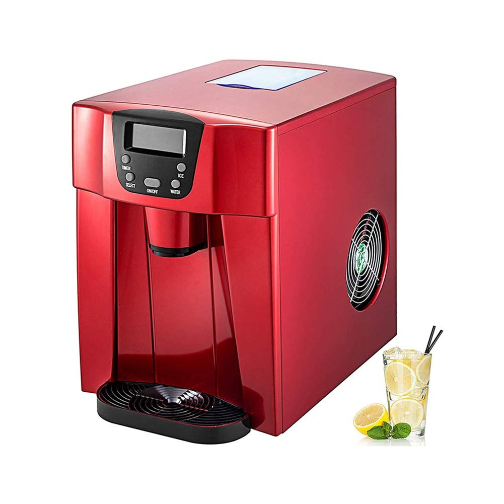 ZLSANVD Ice Maker, LED, 12 Kg Every 24h, 2 L, 6-10 Min, High Performance, Easy Operation, One-Click Operation, Fast Ice Making on Any Bar, Coffee Shops, Party