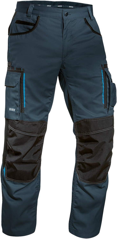 Uvex Tune-up 8909 Pantalones de Trabajo con Cordura Resistente a la Abrasión | con Rodilleras | con Muchos Bolsillos Laterales | de Color Gris-Negro-Azul-Verde