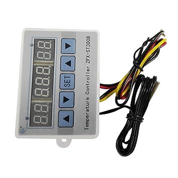 Laurelmartina ZFX-ST3008 Interruptor de Control de Temperatura multifunción Termostato Digital Inteligente Controlador de Temperatura