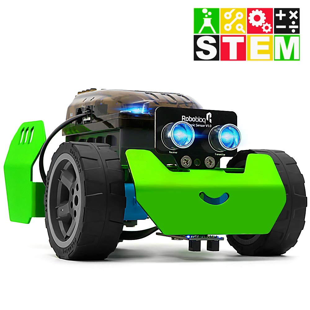 STEM Robot Kit - DIY Mechanical Building Robotic Coding Kit with Remote Control for Kids Teens, Robobloq Q-Scout Educational Toy for Programming and Learning How to Code (Basic Version, 65pcs) by Robobloq