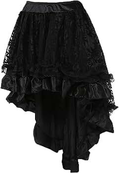 de Color Negro Retro Falda de Encaje para Mujer Estilo Steampunk Taiduosheng g/ótico Estilo Punk