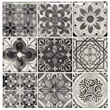 nice kitchen wood tile Peel and Stick Backsplash Tile Stickers, Gray Talavera Mexican Tiles (10 Sheets)