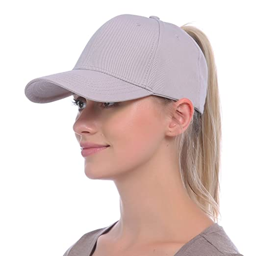 0af6cfc4c JAKY Global Ponytail Baseball Cap Messy Bun Adjustable Mesh Trucker Cotton  Hats Women