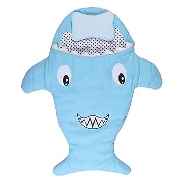 huanle Saco De Dormir para Bebés con Forma De Tiburón, Saco De Dormir con Forma