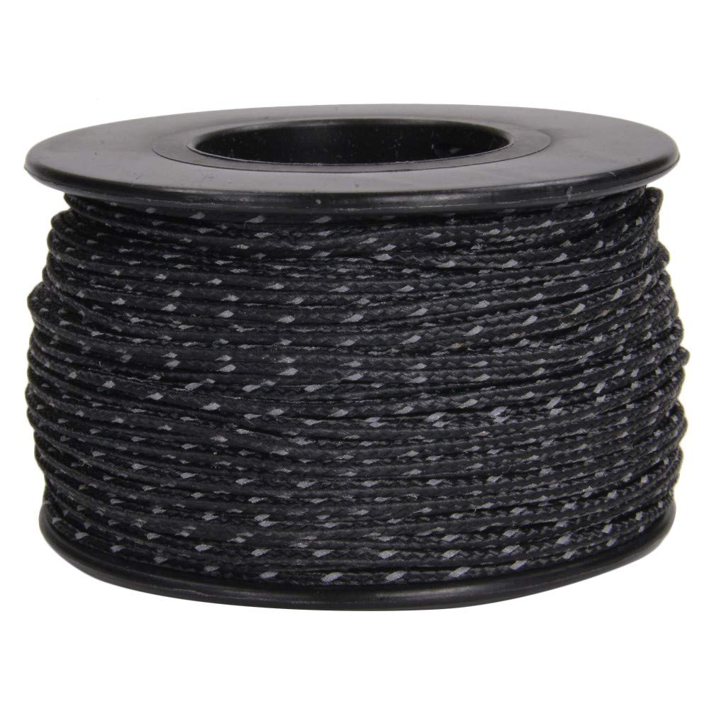 1.18mm Diameter 125 Feet Spool of Braided Cord Glow in the Dark Micro Cord or Choice of Reflective Micro Cord Colors