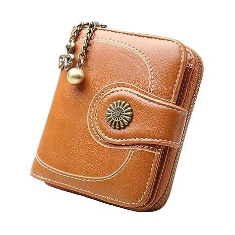 cf153f2042 Coopay Portafoglio Donna Piccolo in Morbida PU Pelle, Mini Portamonete  Donna Ragazza Zip Borsa Portafogli