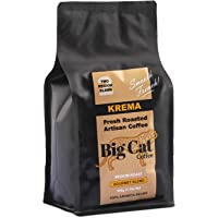 Boost Foodz - Big Cat Coffee - Krema - Artisan Fresh Roasted - Whole Beans - Gourmet French Blend - Medium Roast - 100% Arabica Coffee - 500g Bag - Australian Made