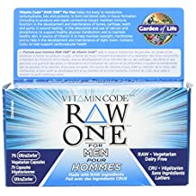 Garden of Life Vitamin Code Raw One for Men - Next Generation UltraZorbe Vcaps, 75 Count