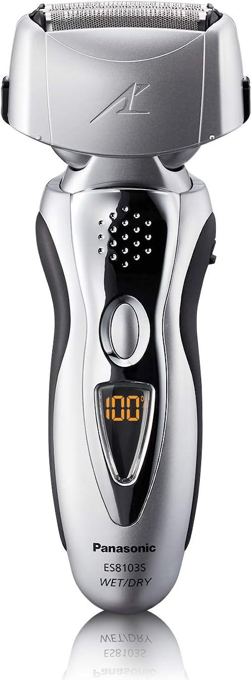 Panasonic ES8103S - Afeitadora (Vibración, Negro, Color blanco, Batería, 1h, 5 min, 6,6 cm): Amazon.es: Salud y cuidado personal