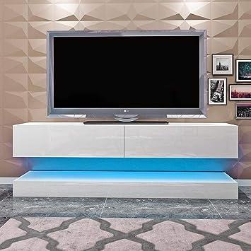 Mueble para TV LGFSG Mueble de TV Flotante de 140 cm Mueble de TV Alto suspendido Muebles de Sala LED Modernos, Modelo 2: Amazon.es: Electrónica