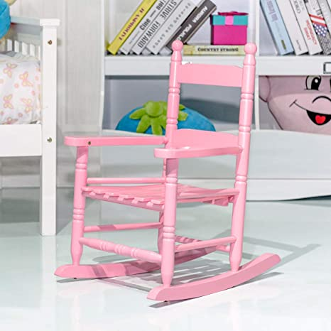 Phenomenal Costzon Kids Rocking Chair Wooden Classic Porch Rocker Double Slat Back Rocking Chair Pink Onthecornerstone Fun Painted Chair Ideas Images Onthecornerstoneorg