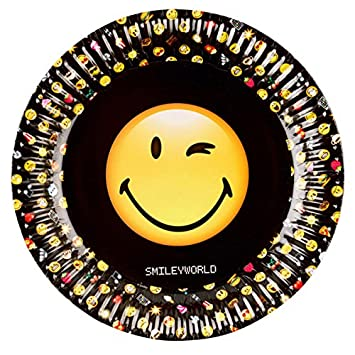 8 platos para fiestas Smiley World * * para fiestas de ...