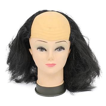 LUOEM Peluca Calva de Halloween Peluca Vieja Divertida Pelucas Suministros de Mascarada Peluca Máscara de Cabeza