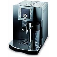 DeLonghi ESAM 5500 Titaniumoptik Kaffee-Vollautomat, Pronto Cappuccino Funktion, Milchbehälter