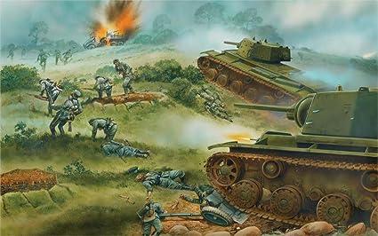 Amazon com: makeuseof Art world war 2 WW2 KV KV-1 tanks Soviet heavy