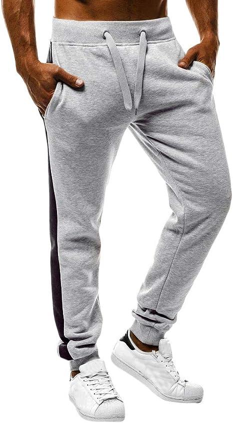 Xinan - Pantalones de chándal para Hombre, Hombre, Gris, XX-Large ...