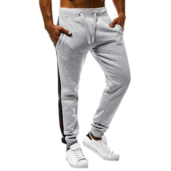 Pantalón Chandal Hombre Pantalones Deportivos Casual con Cordones Ajustado  Fitness Gym Invierno Tallas Grandes Jogging de Hip-Hop Estampados Rayas ... 0d8f4bbb433