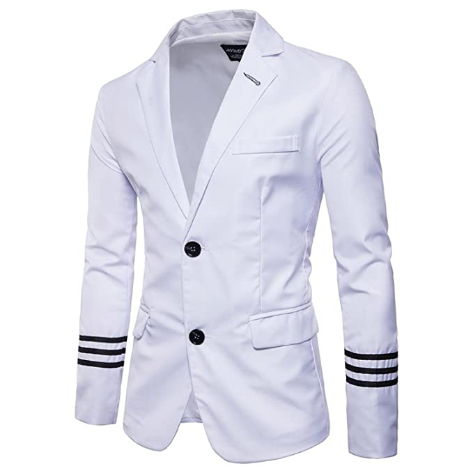 Amazon.com: Mens Notched Lapel Single Breasted Two Button Dress Suit Jacket Blazer Costume Homme Men Wedding Prom: Clothing