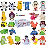 Fun Little Toys 25 Pieces Wind Up Toys for Children Parties Gifts Kids Birthdays Easter Egg Stuffer