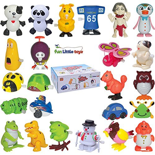 Wind up Toys 25 pcs Assorted Toy Animal for Children's Party Gifts Kids Birthdays (More than 2 (Monster High Dog)
