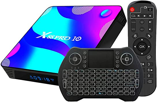 Android TV Box 10, 2GB RAM 16GB ROM Android 10 Compatible con 4K 3D H.265, RK3318 Dual-WiFi 2.4g / 5g Smart TV Box con Mini Teclado HDMI USB 3.0: Amazon.es: Electrónica