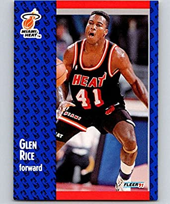separation shoes 32ee7 515ad Amazon.com: 1991-92 Fleer Basketball #111 Glen Rice Miami ...