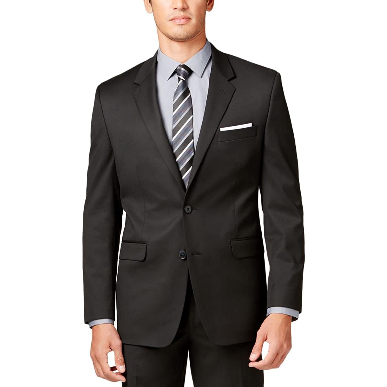 Alfani Mens Twill Button Closure Two-Button Suit Jacket