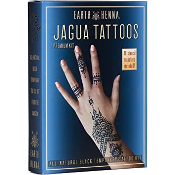 9497492b0 Organic Jagua Black Temporary Tattoo and Body Painting Premium Kit