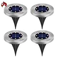 Deals on 4-Pack TONBUX Solar Ground Lights