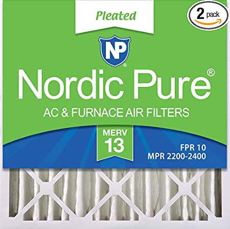 3 5//8 Pleated MERV 8 Air Filters 2 Pack Nordic Pure 20x20x4