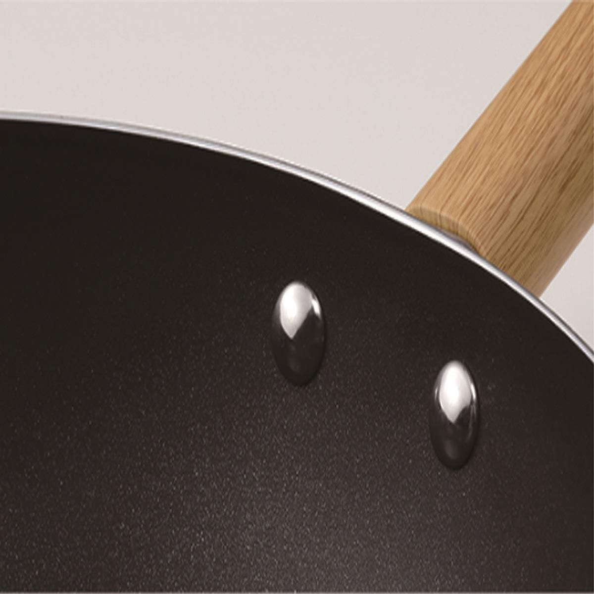 Hengtongtongxun Wok, Non-Stick Pan, Coal Gas Stove Induction Cooker Universal Wok, Light Luxury Wok, Strong and Sturdy (Size : 30cm)