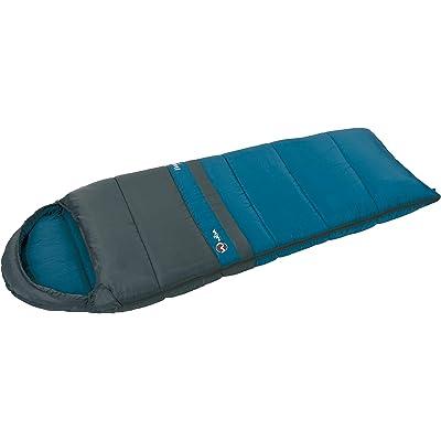 Wilsa Outdoor–Saco de Dormir Senderismo 14° Tipo Momia 180x 70cm Gris/Azul, Verdon Light Junior 101251