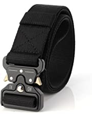 Tactical Belt Unisex Nylon Heavy Duty Waist Belt Adjustable Military Style Web Belt with Metal Buckle