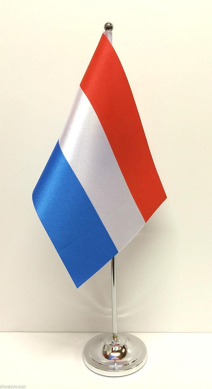 DellUnione europea e bandiere /& Italy da tavolo in cromo satinato-Set di bandierine