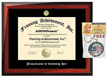 Amazon.com: AllGiftFrames - Marco de diploma de doctor ...